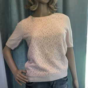 NWT Rose Lace Sweater